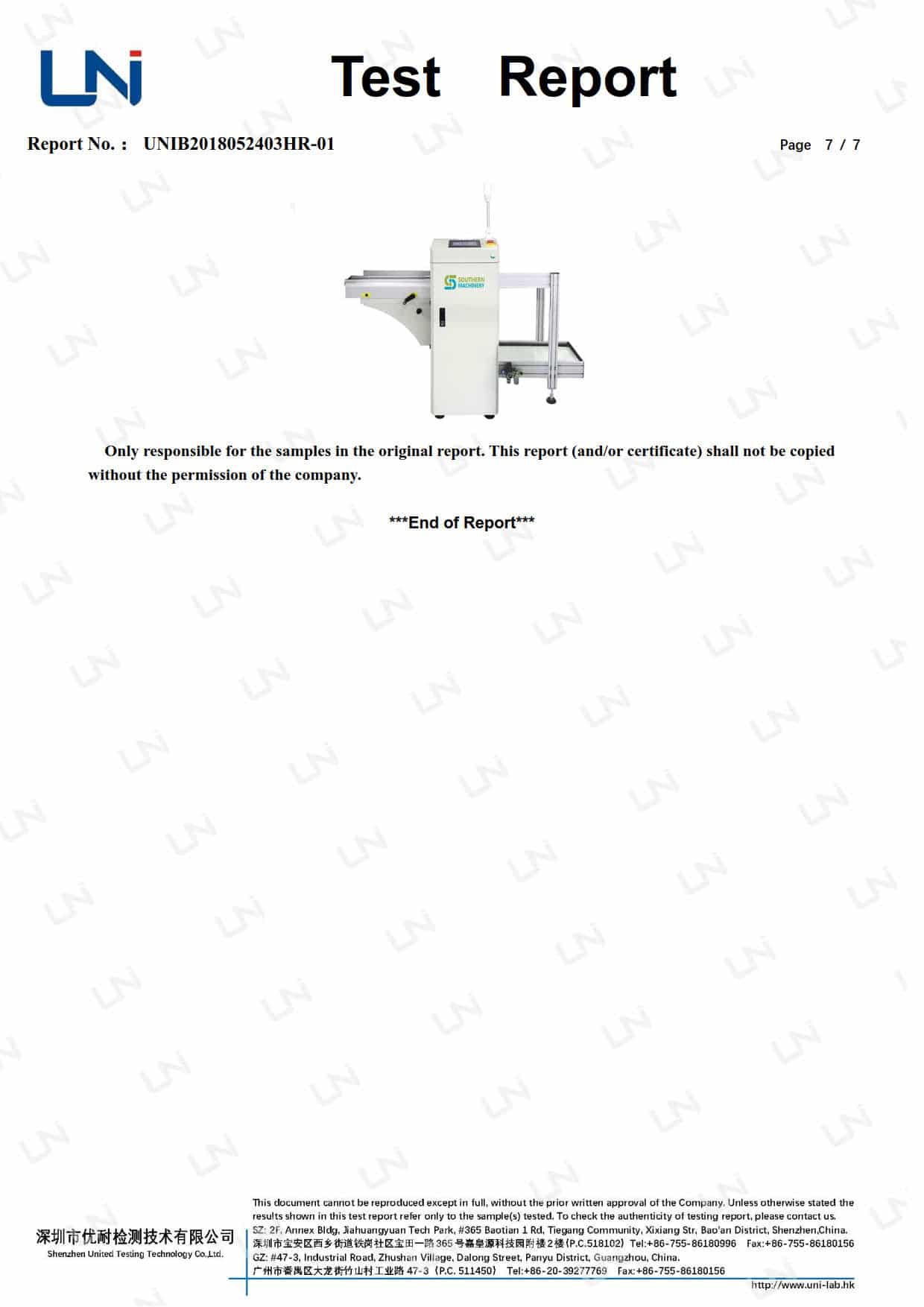 PCB LD-Unloader-ROHS Certification_7