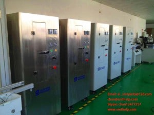 Pnumatic stencil cleaner packing