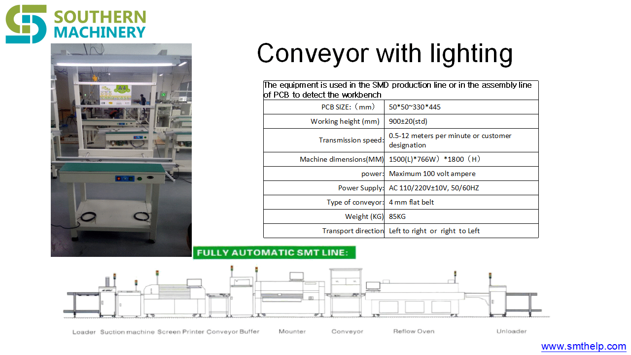 PCB Conveyor with lighting 2