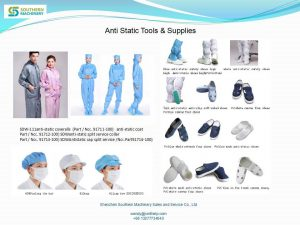 static clothing, antistatic shoes (conductive shoes)