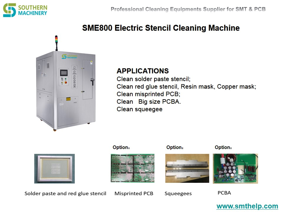 SME800 Electric Stencil Cleaning Machine